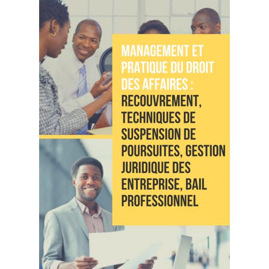Formation : Management et pratique du droit des affaires (OHADA)