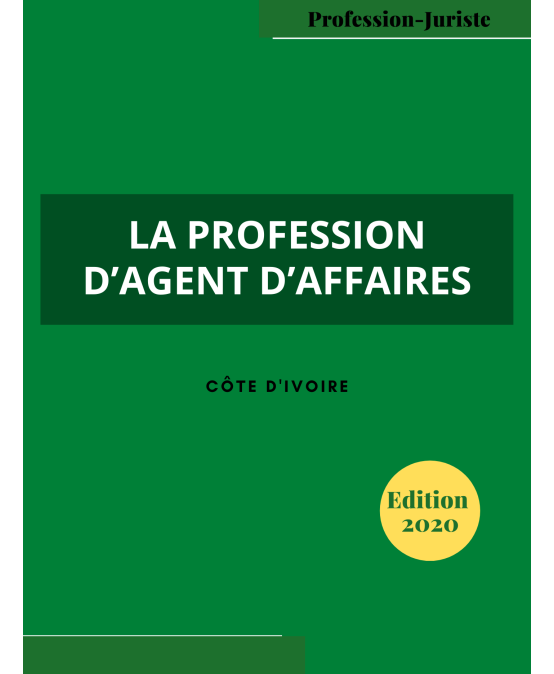 LA PROFESSION D'AGENT D'AFFAIRES-cover