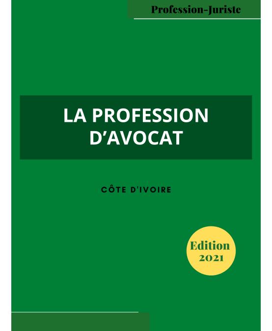 LA PROFESSION D'AVOCAT-2021-cover