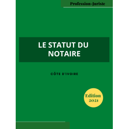 Le statut du notaire - Côte d'Ivoire (PDF)