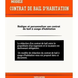 Modèle de contrat de bail à usage d'habitation - Côte d'Ivoire