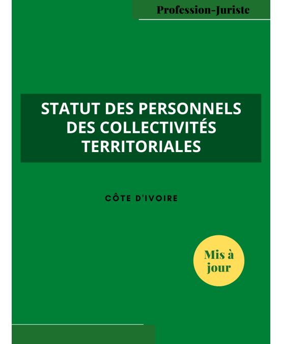 Le statut des personnels des collectivités territoriales