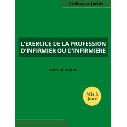 L'exercice de la profession d'infirmier ou d'infirmière - Côte d'Ivoire (PDF)