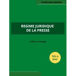 Régime juridique de la presse - Côte d'Ivoire (PDF)